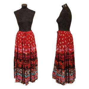 Dresses & Skirts - Long, colorful, flowy boho skirt - Large